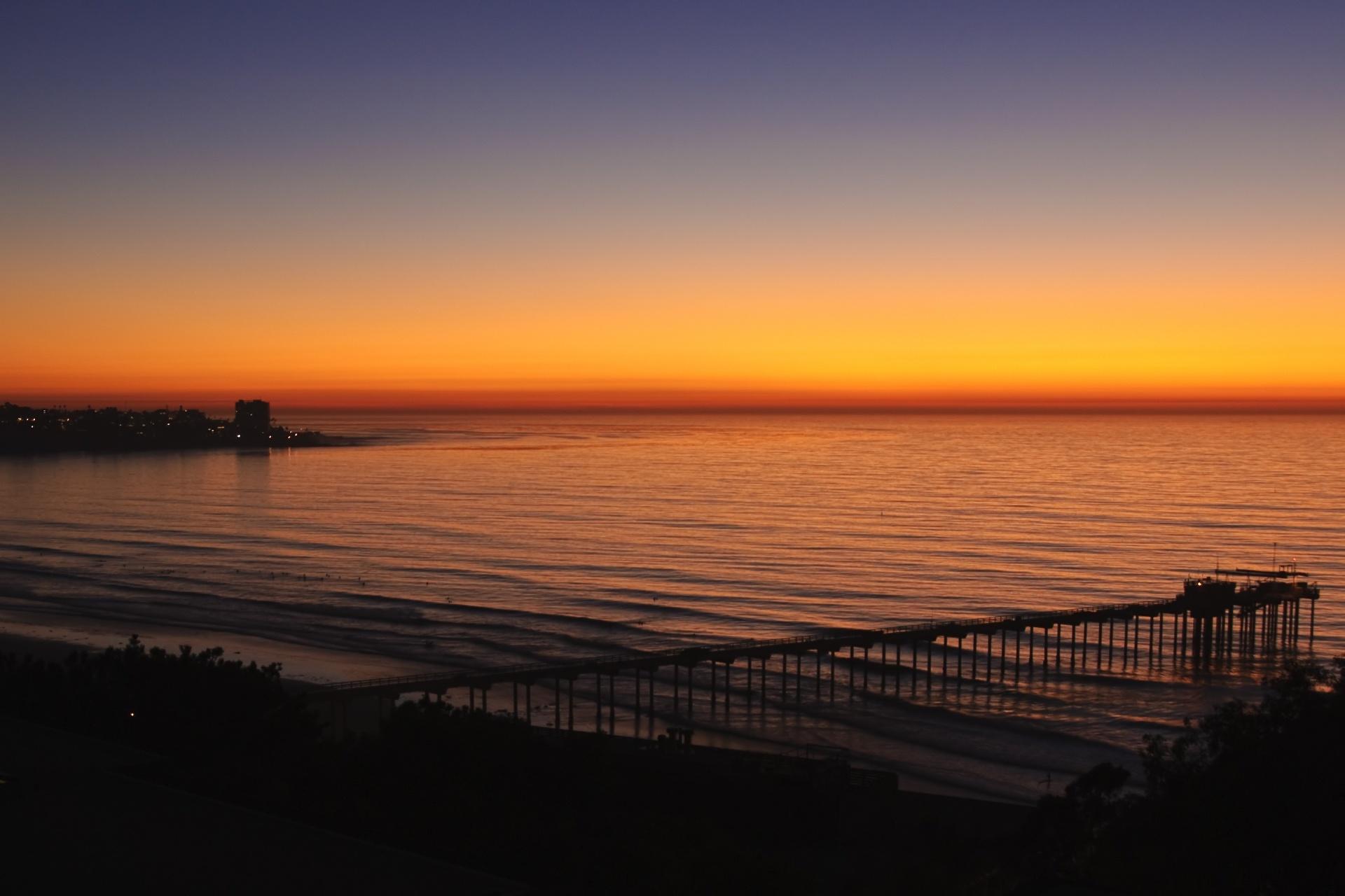 夕暮れのサンディエゴ アメリカの風景