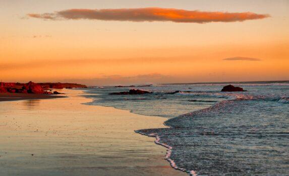 夕暮れのビーチ ニカラグアの風景