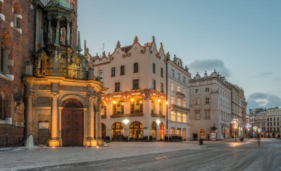 冬のクラクフ ポーランドの風景