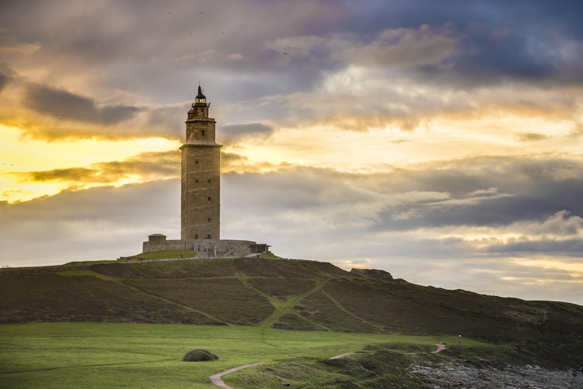 ヘラクレスの塔 スペインの風景