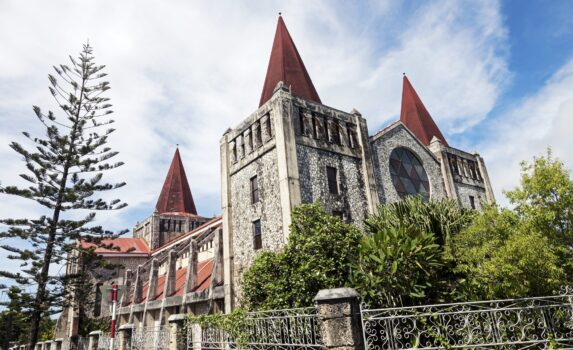 ヌクアロファの大聖堂 トンガの風景