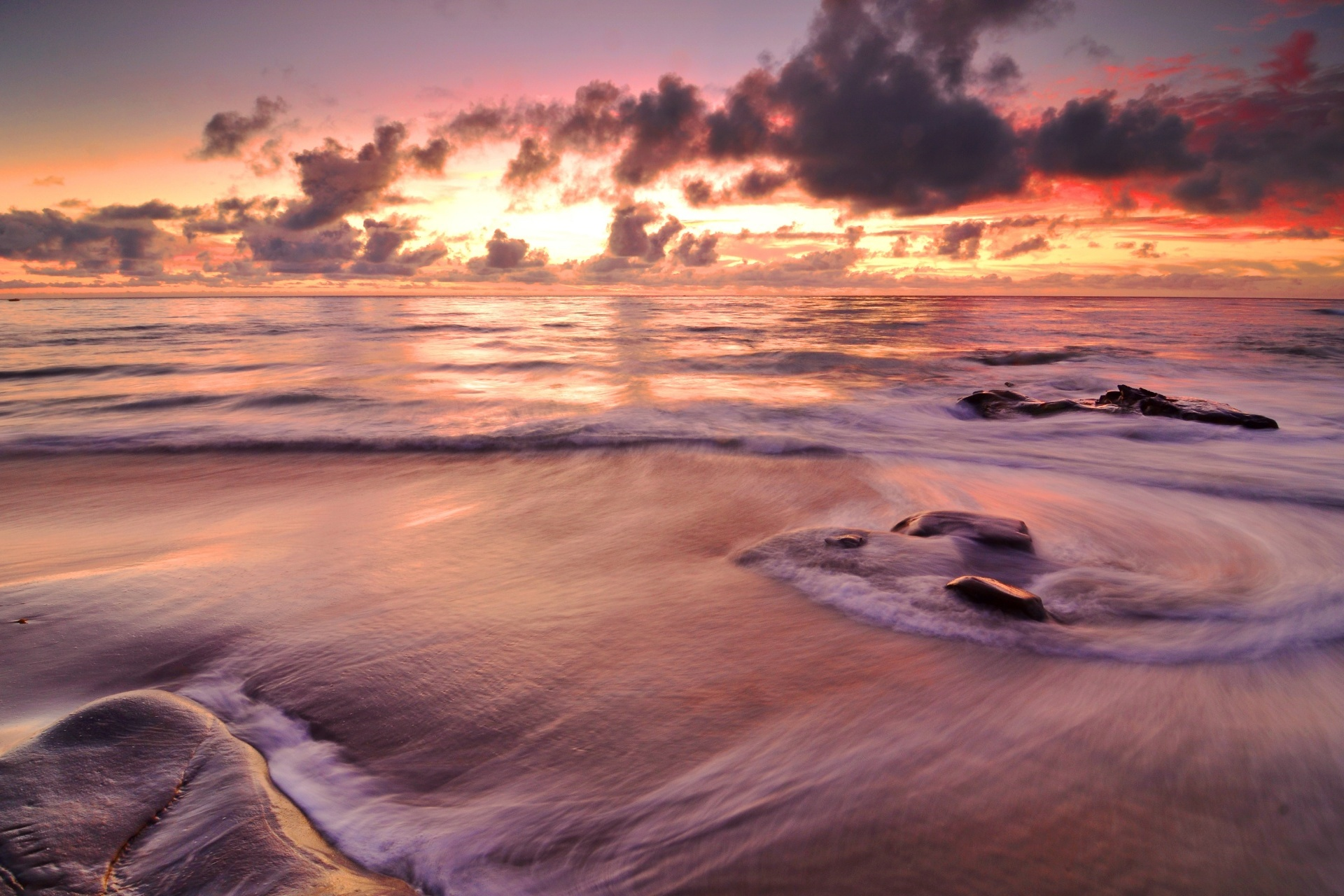夕暮れの海 アメリカの風景