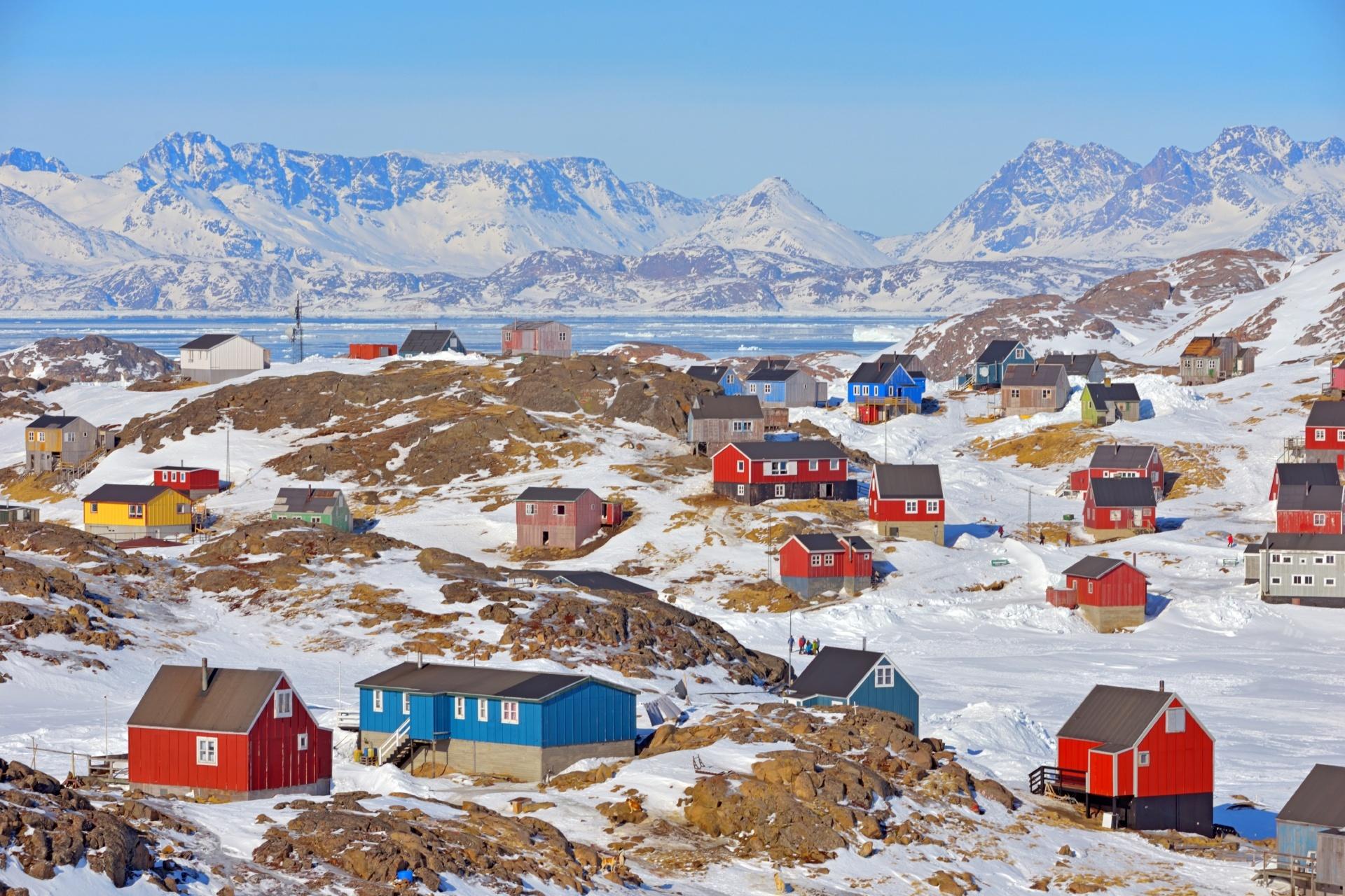 春のグリーンランドの風景