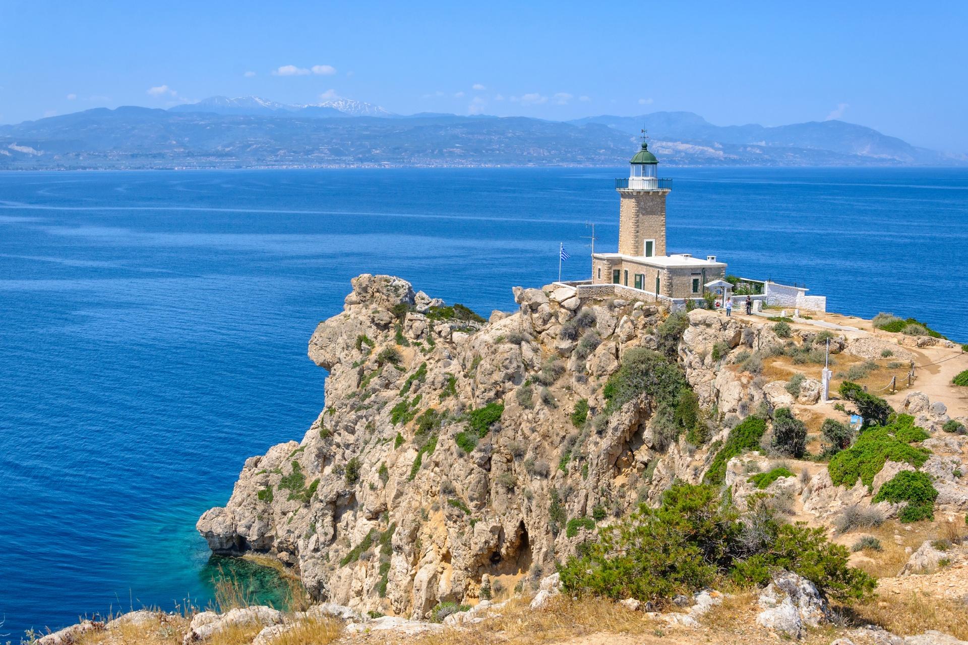 コリント湾の風景 ギリシャの風景