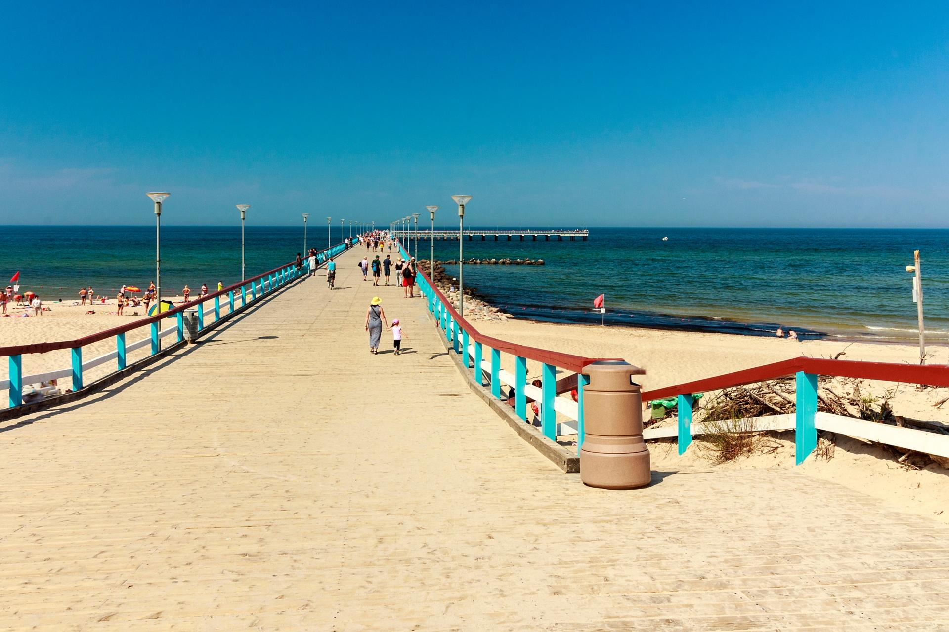 バルト海の浜辺の風景 リトアニアの風景