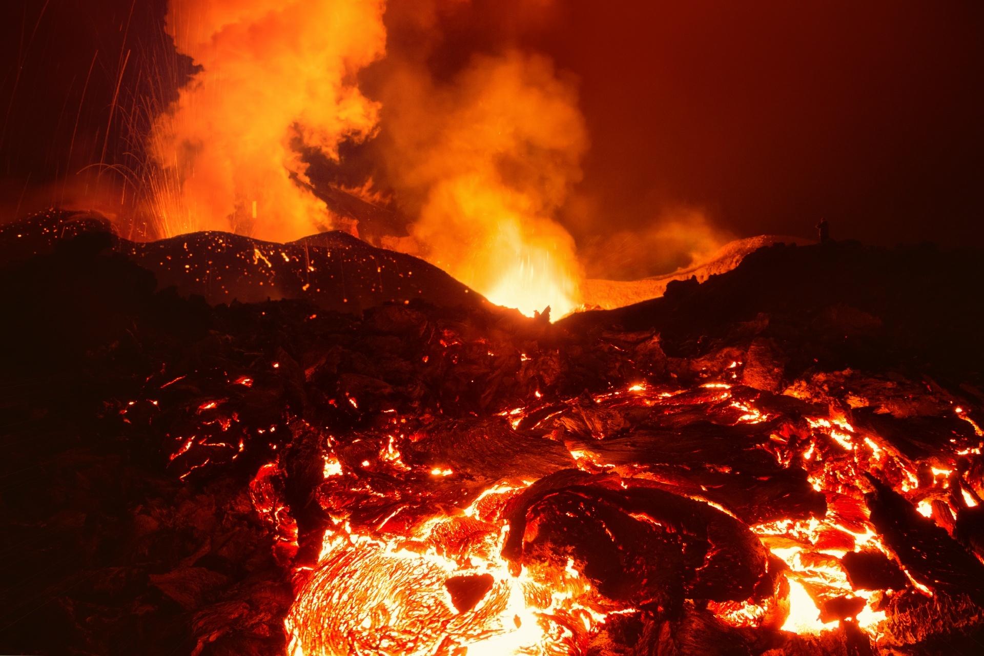 トルバチク山の噴火 ロシアの風景