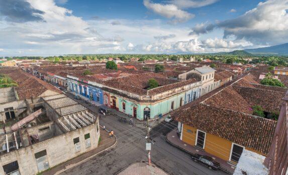 グラナダ旧市街の町並み ニカラグアの風景