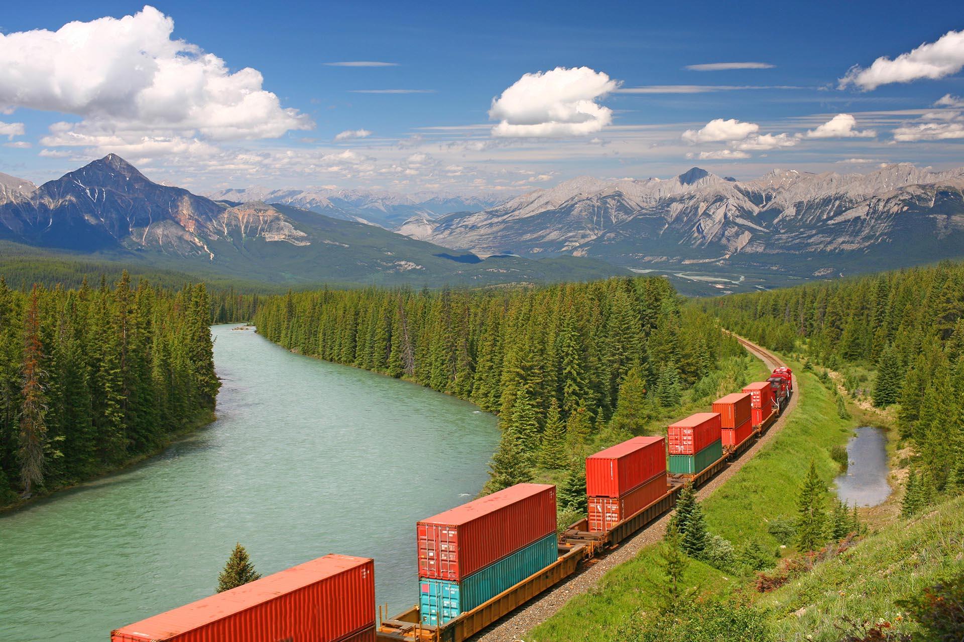 カナディアンロッキーの風景 カナダの風景