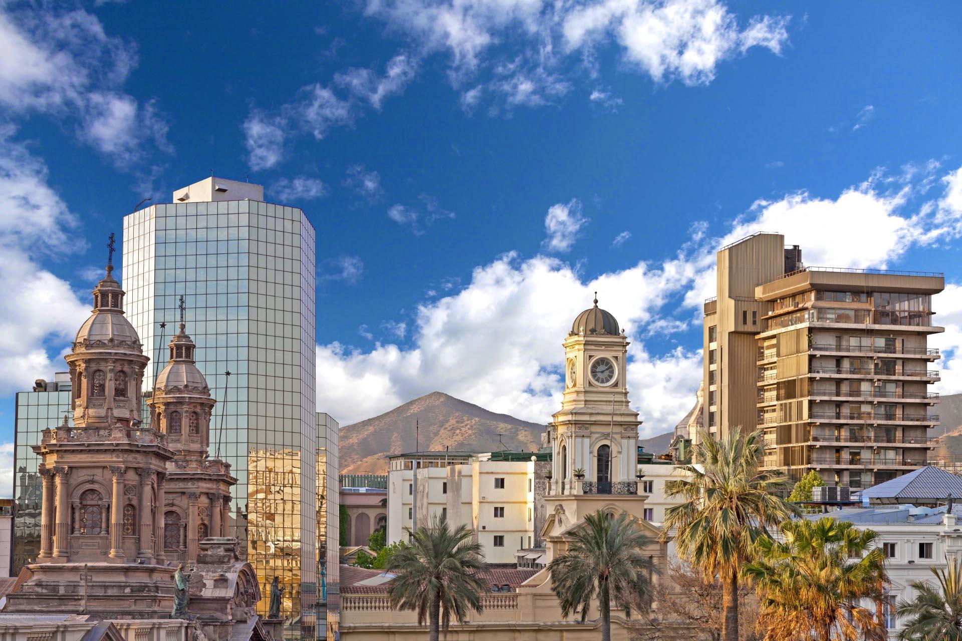 サンティアゴのダウンタウン チリの風景