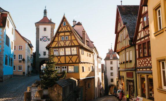 ローテンブルク・オプ・デア・タウバーの町並み ドイツの風景