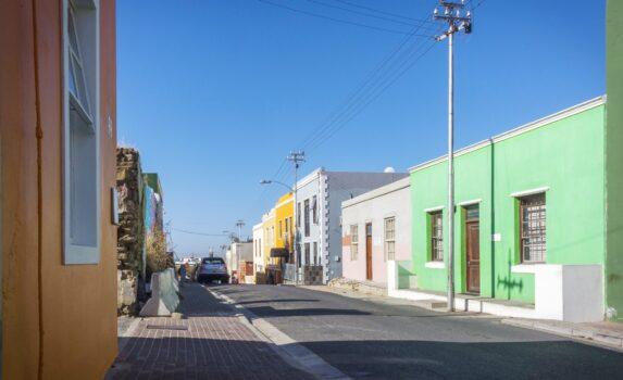 ケープタウン ボ・カープ地区の町並み 南アフリカの風景