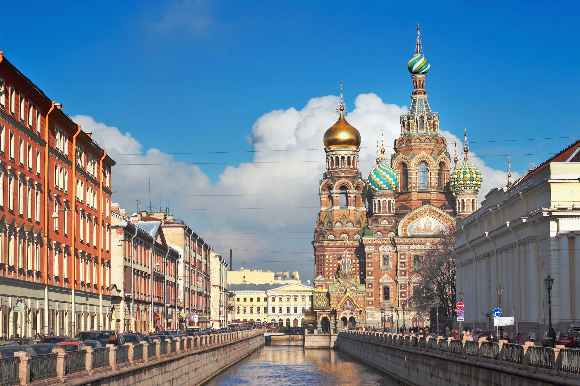 血の上の救世主教会 サンクトペテルブルク ロシアの風景