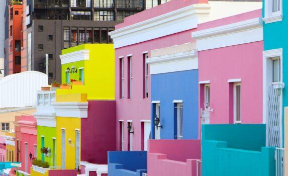 ケープタウンの町並み 南アフリカの風景