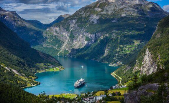 ガイランゲルフィヨルドの風景 ノルウェーの風景