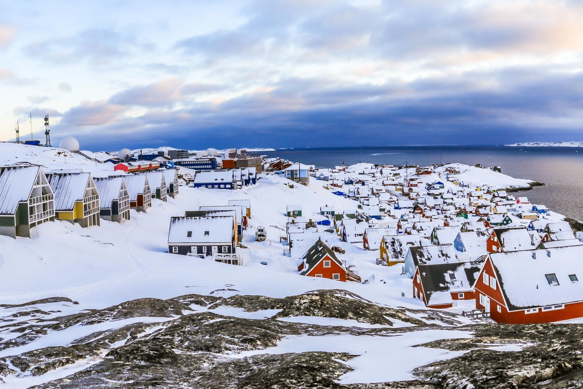 春のグリーンランド デンマークの風景