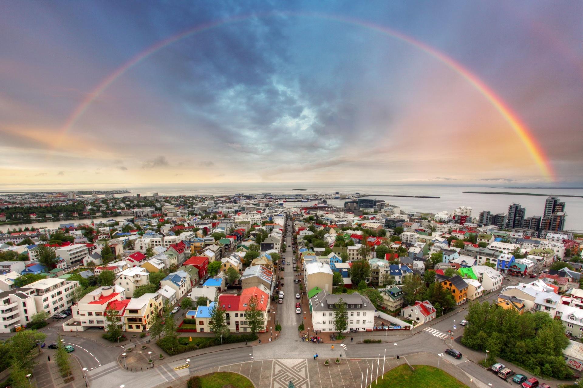 レイキャビークの町並み アイスランドの風景