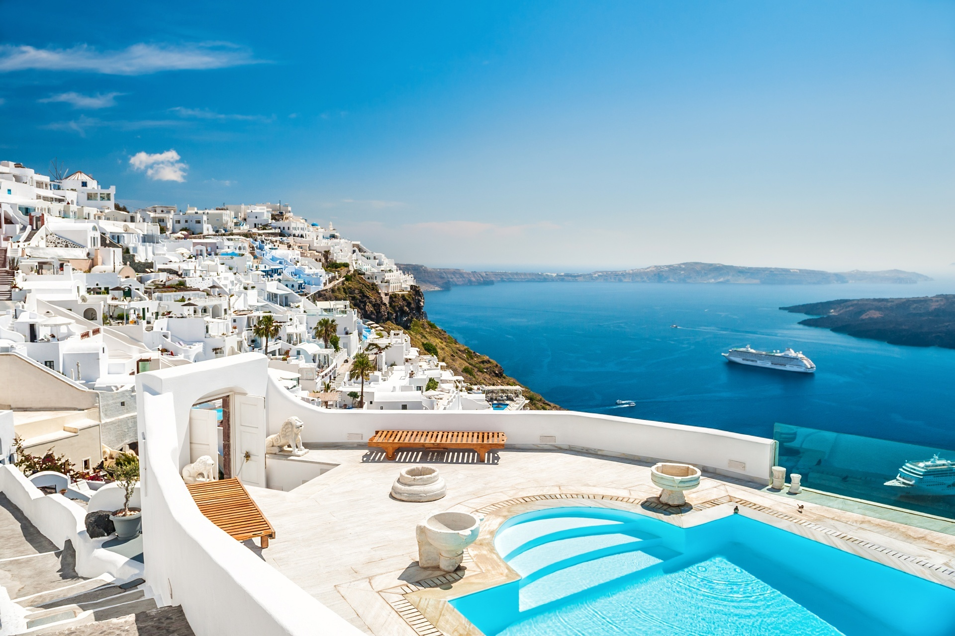 サントリーニ島の風景 ギリシャの風景
