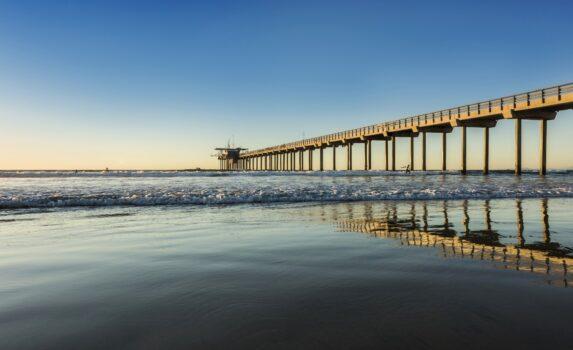 夕暮れのカリフォルニアの海岸 アメリカの風景