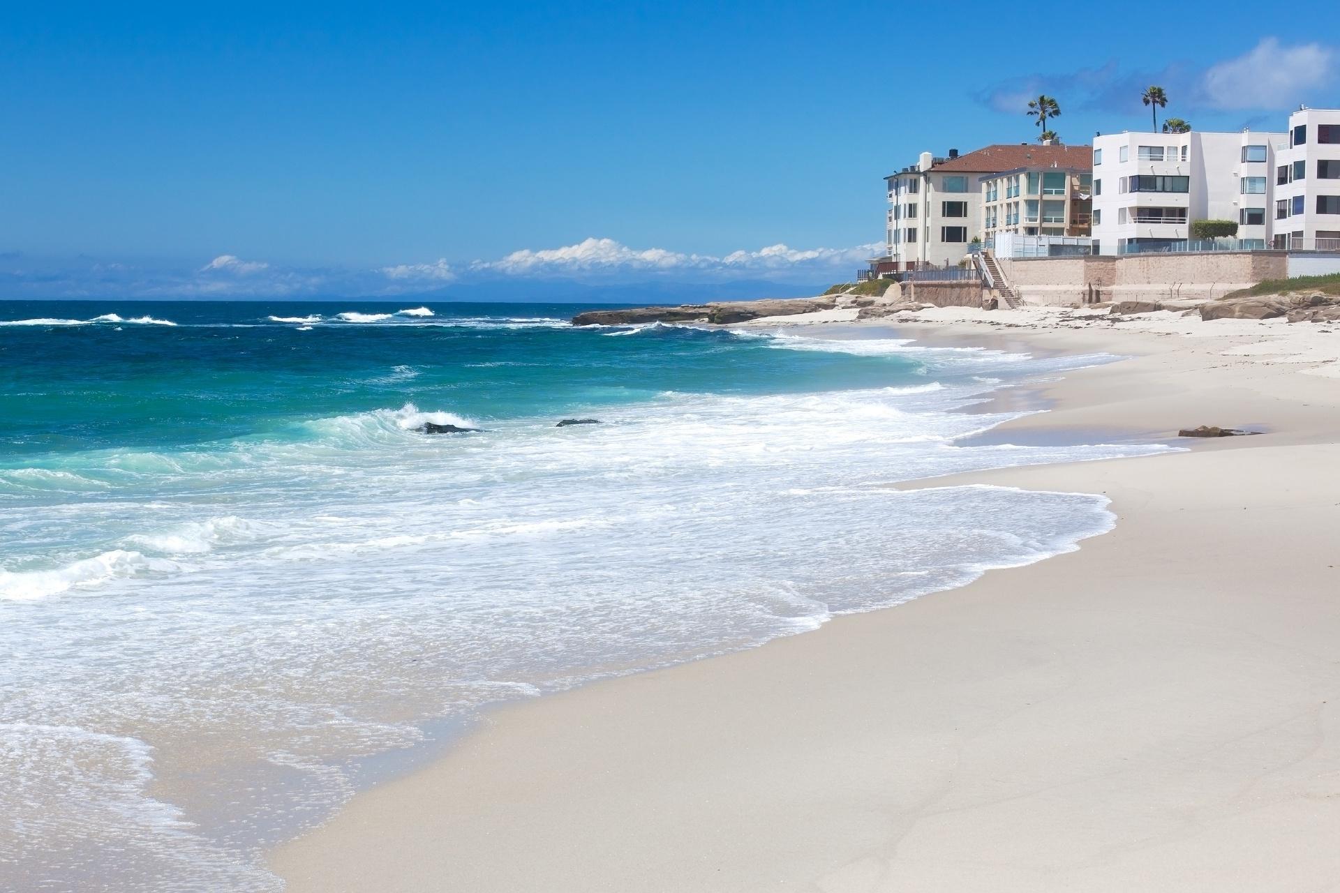 サンディエゴのビーチ アメリカの風景