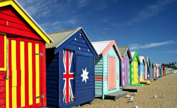 ブライトン・ビーチ オーストラリアの風景
