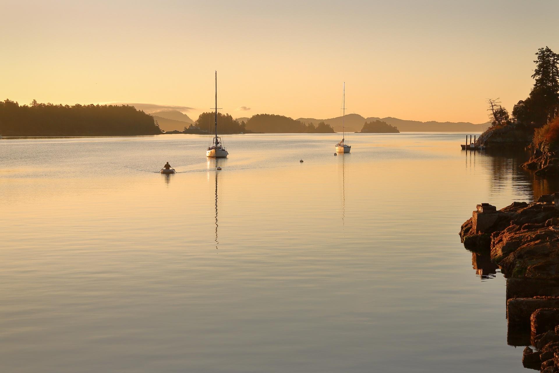 ガルフ諸島の風景 カナダの風景