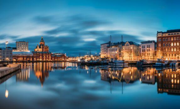 夕暮れのヘルシンキ フィンランドの風景
