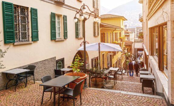 ルガーノの旧市街 スイスの風景