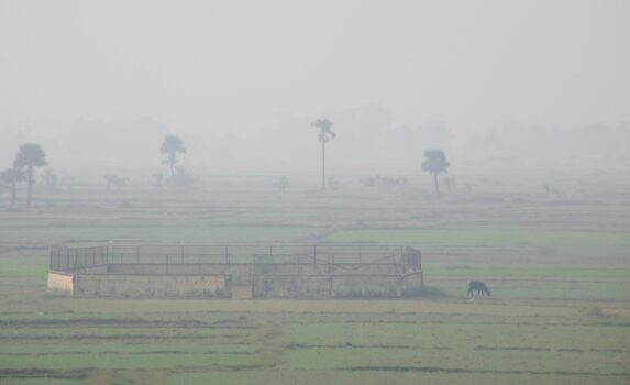 ラジギールそばの田園風景 インドの風景