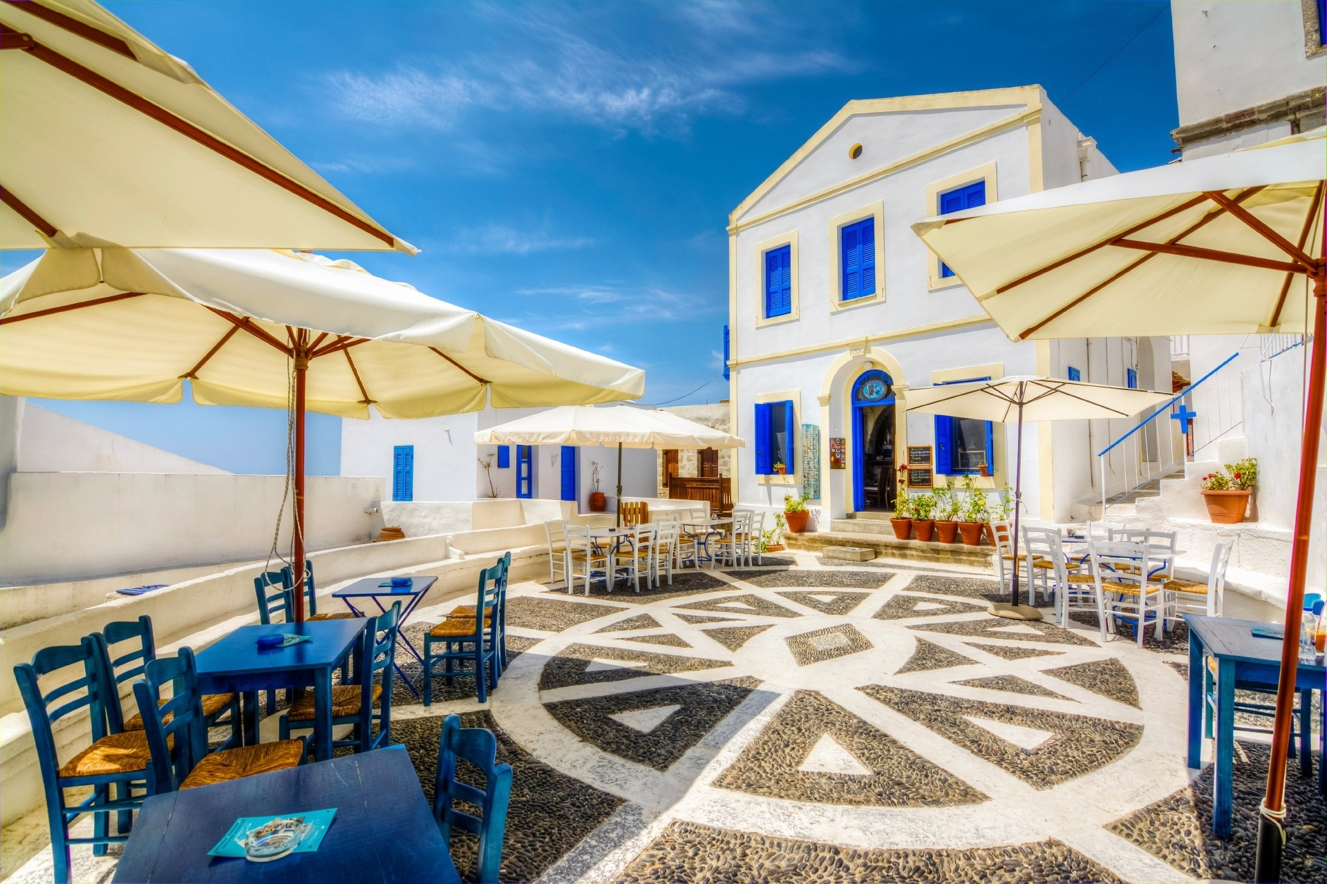 ニシロス島ニキアの風景 ギリシャの風景