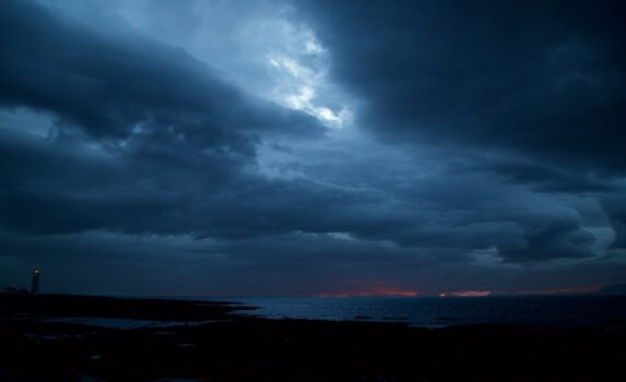 夏至のレイキャビク アイスランドの風景