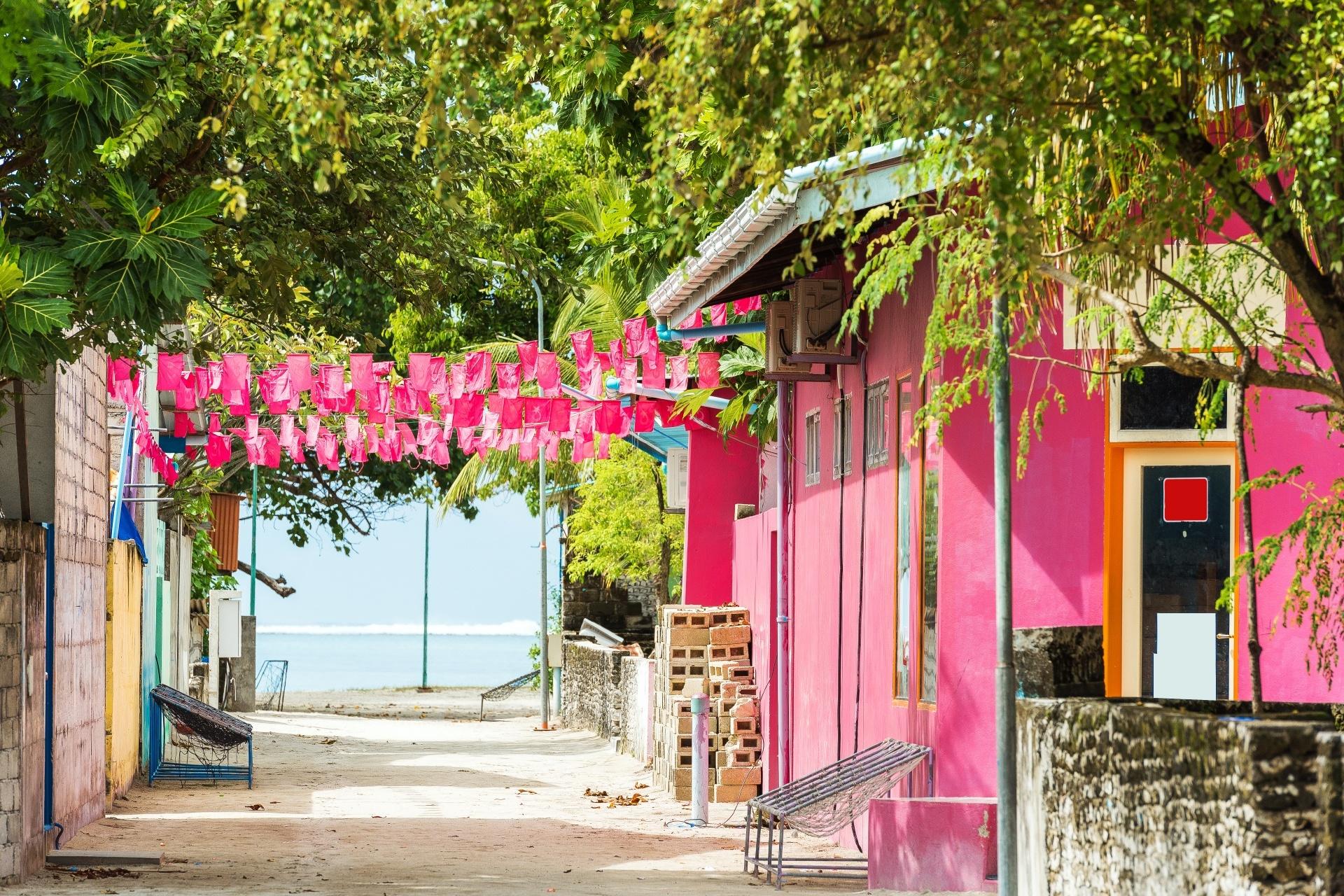 マレの家並み モルディブの風景
