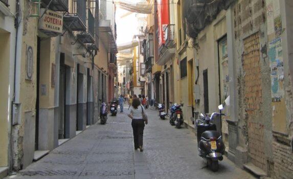 セビージャの路地裏 スペインの風景