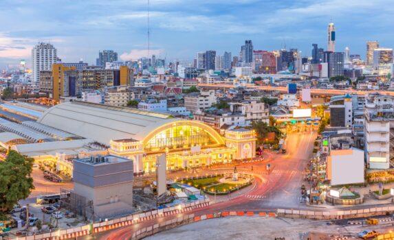 夕暮れのバンコク タイの風景