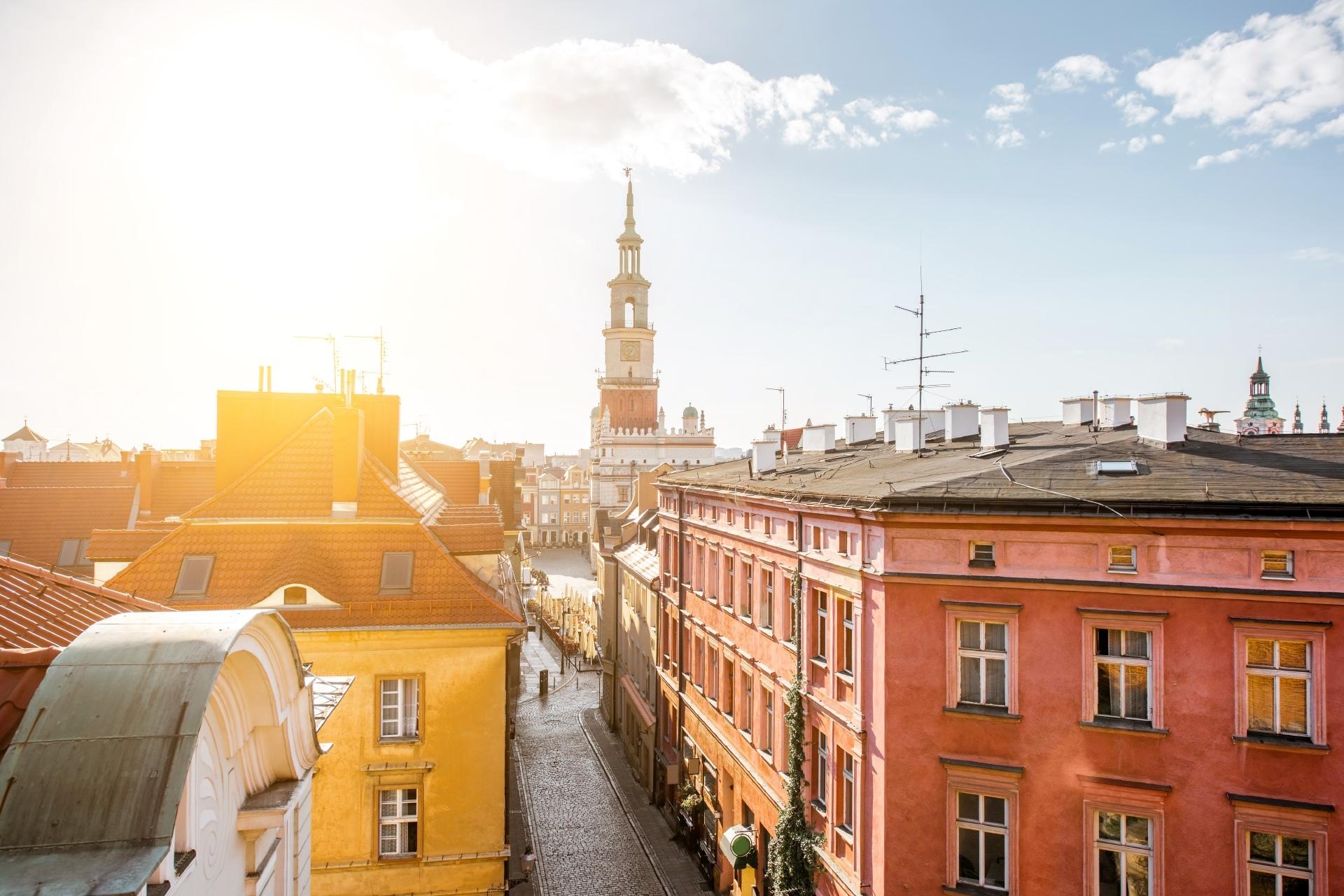 ポズナンの旧市街 ポーランドの風景