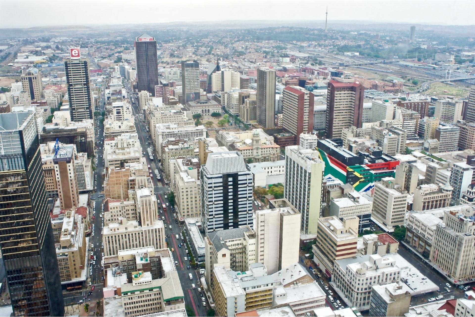 ヨハネスブルグの町並み 南アフリカの風景