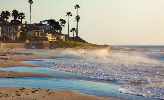 夕暮れのビーチ アメリカの風景
