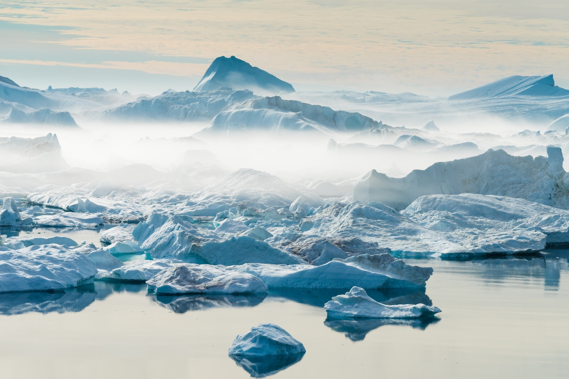 氷河の風景 グリーンランドの風景