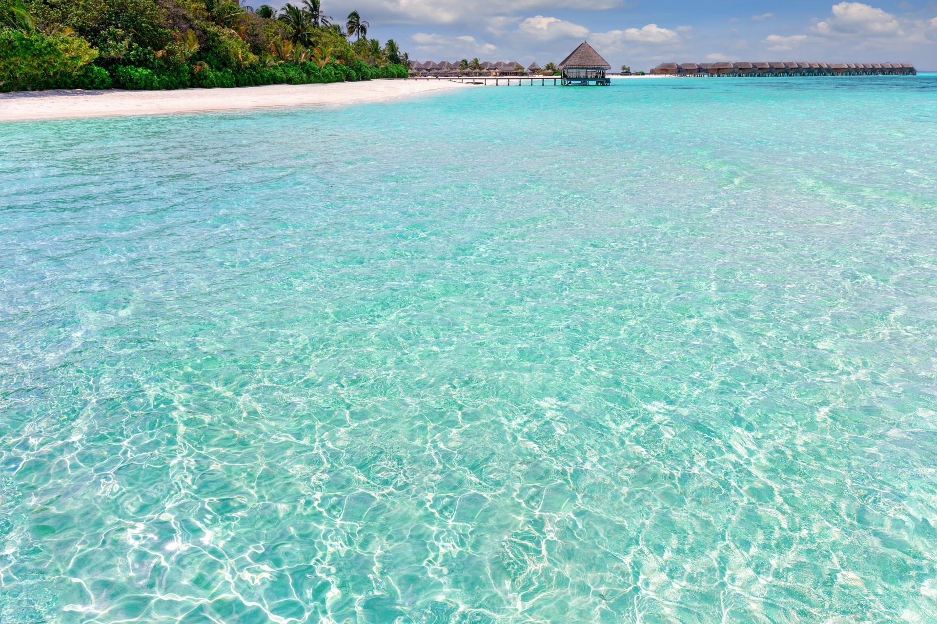 インド洋の風景 モルディブの風景
