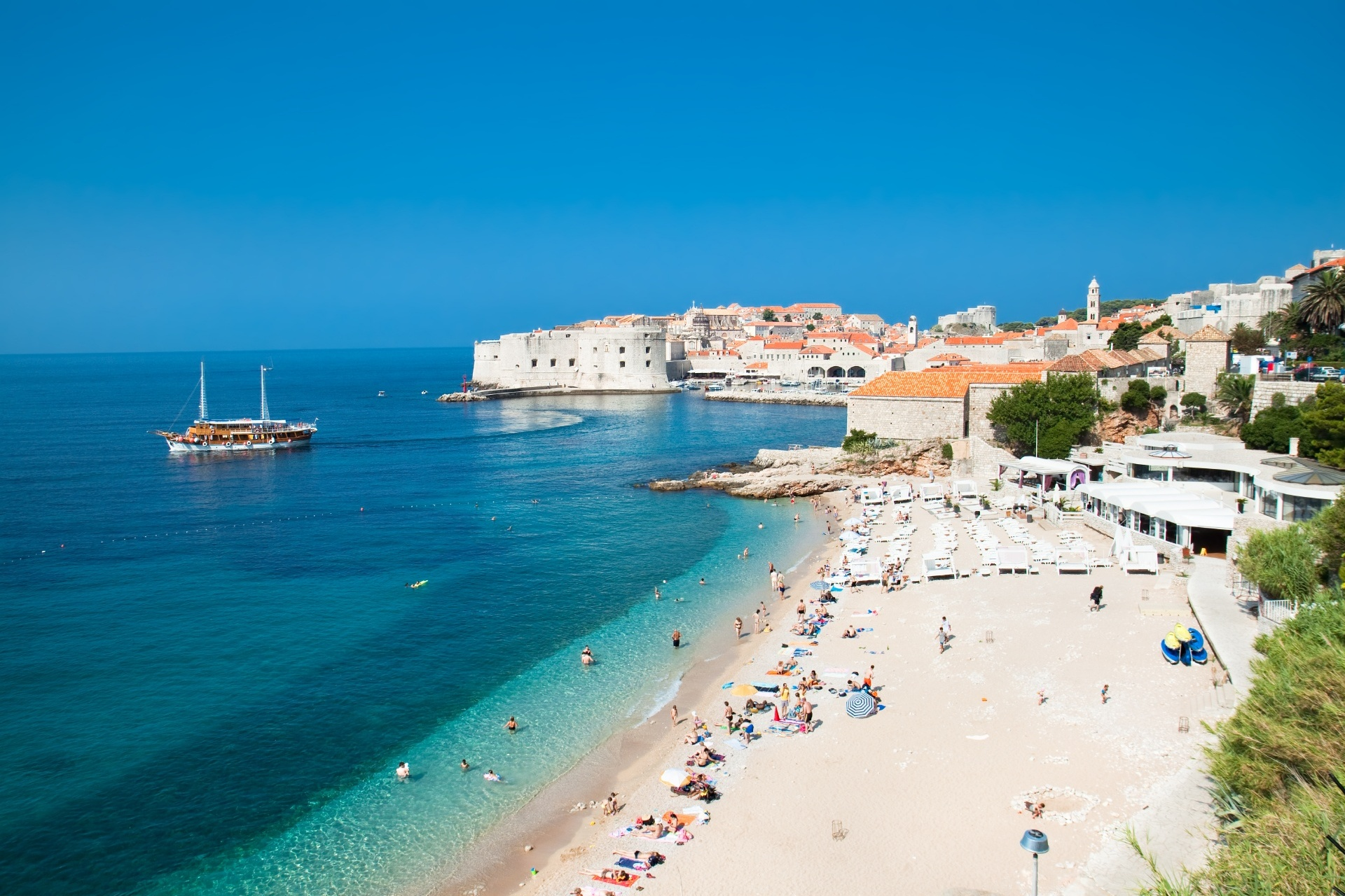 ドゥブロヴニクのビーチ クロアチアの風景
