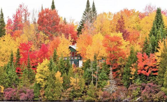 ケベックの秋の風景 カナダの風景