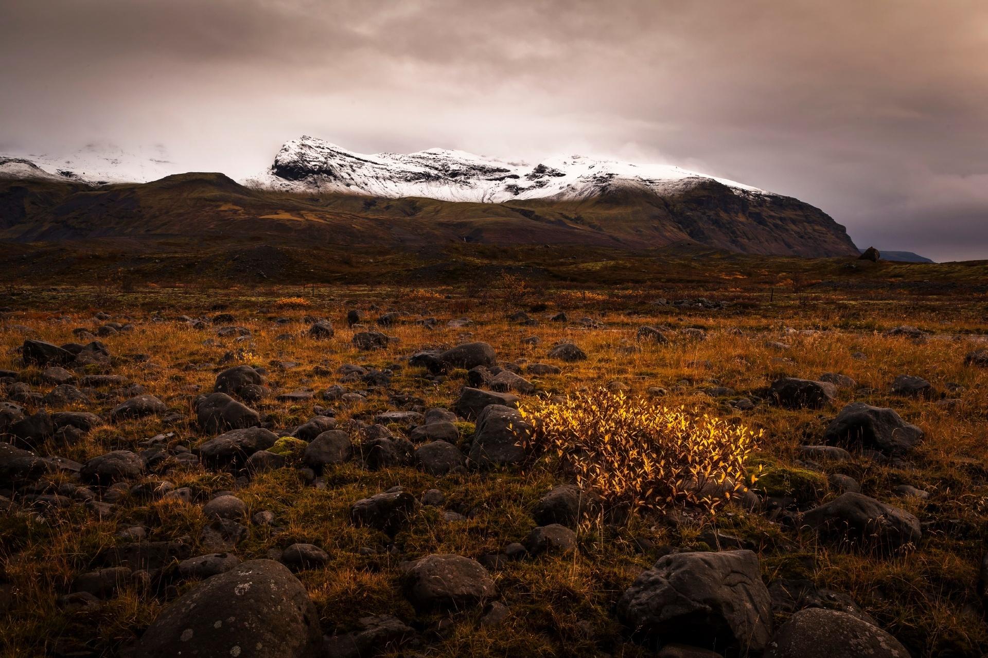 アイスランドの秋の風景