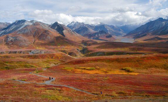 アラスカの秋 アメリカの風景