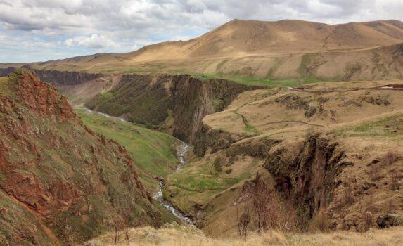 マルカ川の峡谷 ロシアの風景
