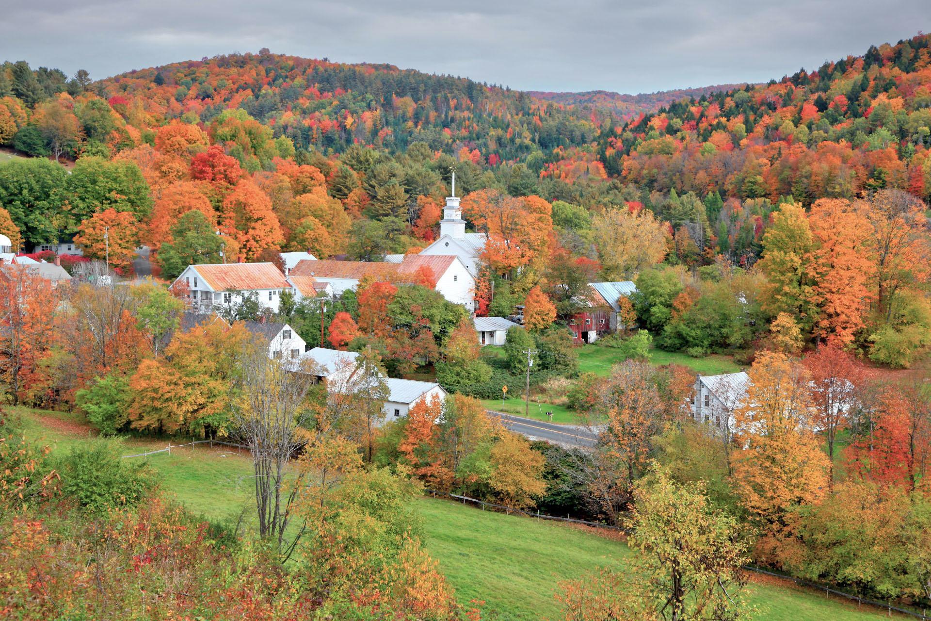 秋のバーモント州トップシャムの風景 カナダの秋の風景