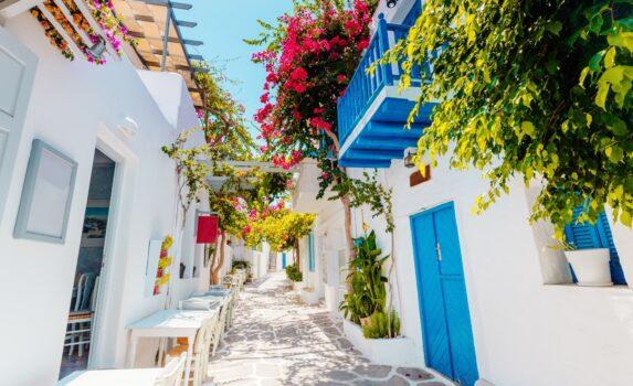 パロス島の路地 ギリシャの風景