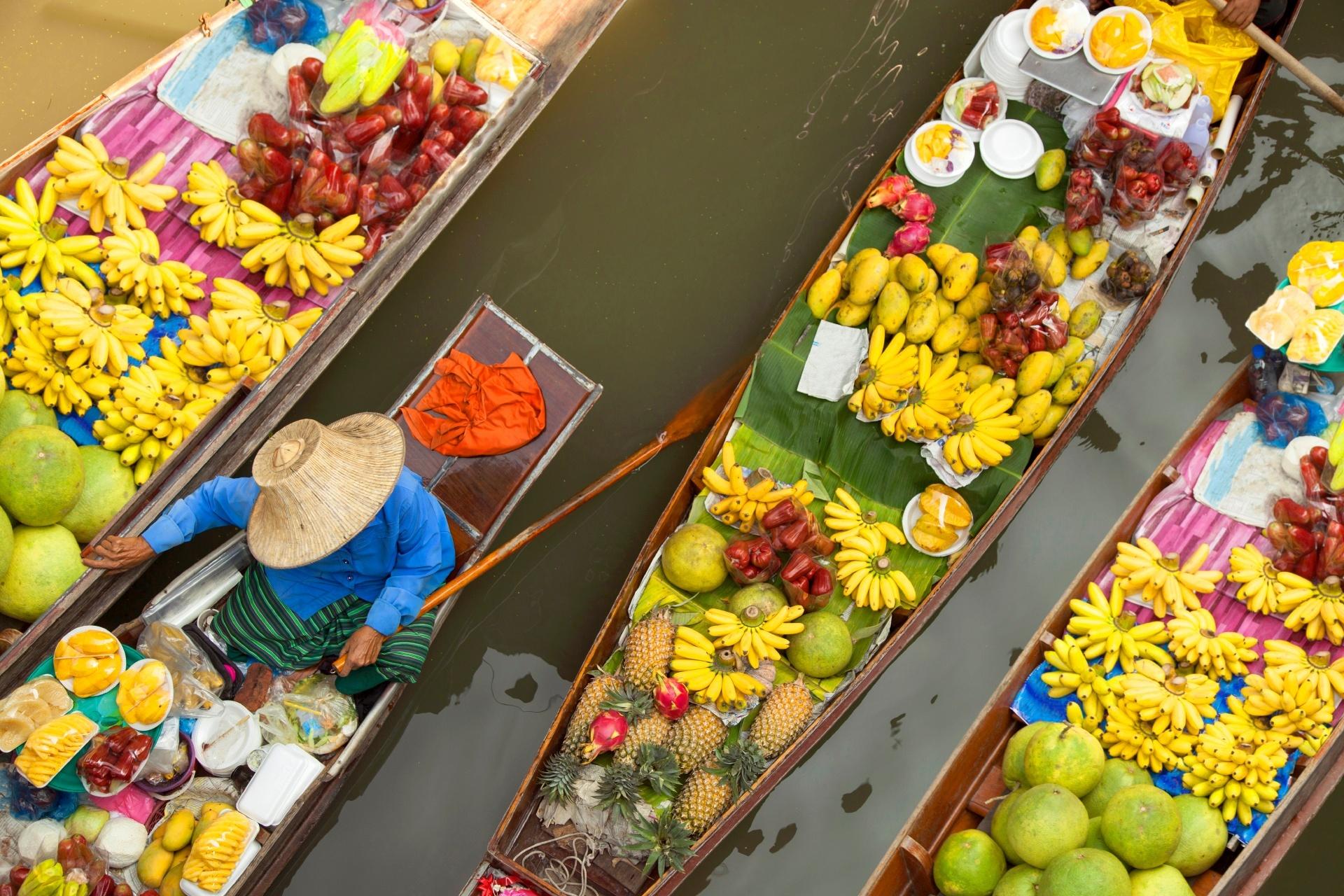 水上マーケット タイの風景
