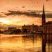 ストックホルムの夕暮れ スウェーデンの風景